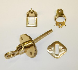 Brass Through Shutter Latch Kit