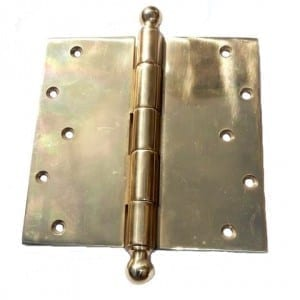 six by six brass hinge