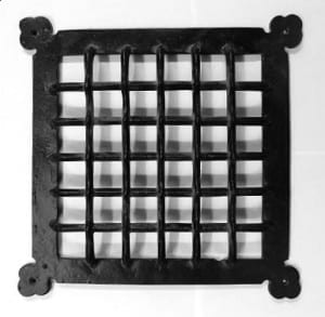 Large Iron Door Grille