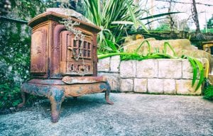 Old Kitchen Stove, Fireplace